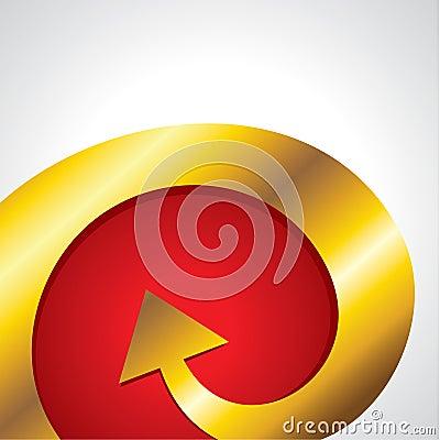Golden arrow go upper side
