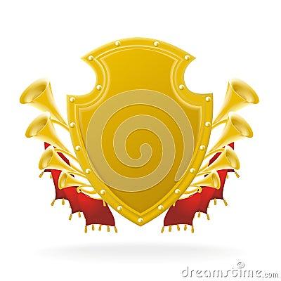 Golden award and flourish