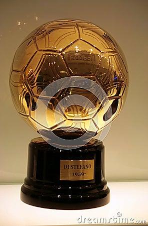 Golden ball 1959 Editorial Stock Image