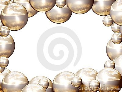 Golden balls frame