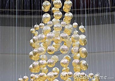 Golden balls on strings