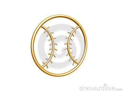 Golden baseball symbol