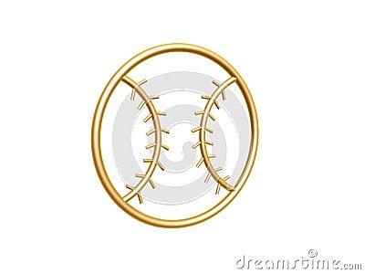 Golden baseball symbol