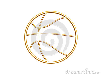 Golden basketball symbol