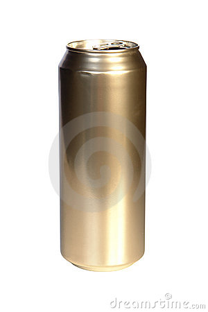 Free Golden Beer Can Stock Photography - 5748972