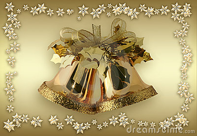 Golden Bells + snowfakes