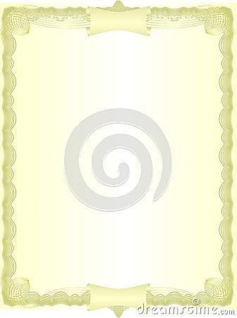 Golden blank.