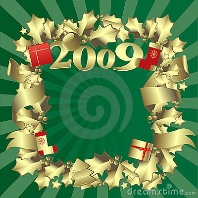 Golden border- new year