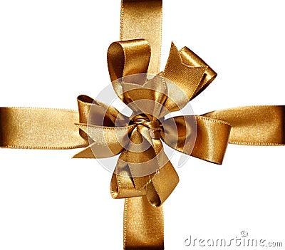 Golden Bow & Ribbon