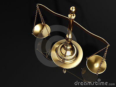 Golden brass scale