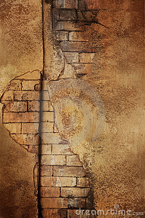 Free Golden Brick Wall Royalty Free Stock Images - 19290459