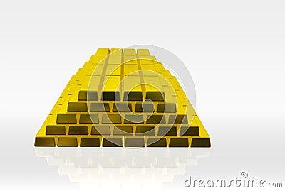 Golden bricks