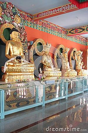 Golden budda statues