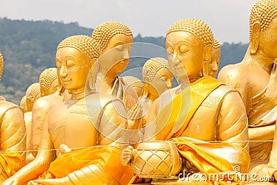 Golden buddha at Buddha Memorial park