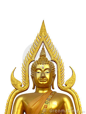 Golden Buddha half body
