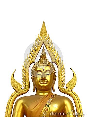 Golden Buddha half body