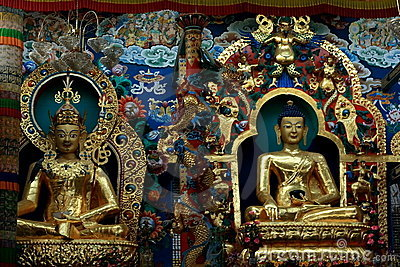Golden Buddha icons