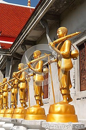 The golden Buddha statue