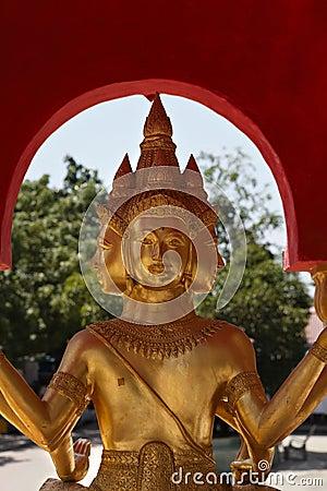 Free Golden Buddha Statue At Big Buddha Temple Stock Images - 22103354