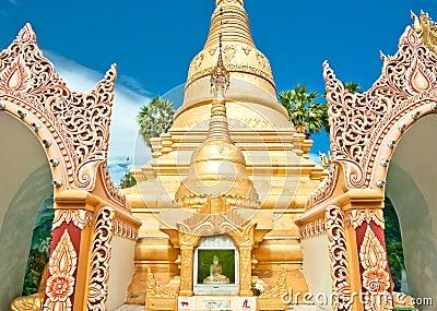 Golden buddhist temple