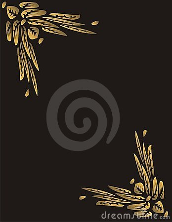 Free Golden Butterfly Flowers Frame Royalty Free Stock Image - 7836876