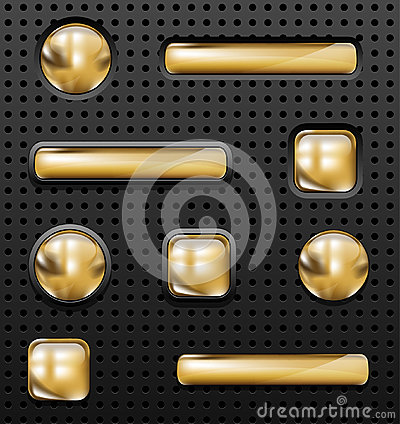 Free Golden Buttons Stock Images - 50121064