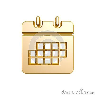 Golden calendar symbol