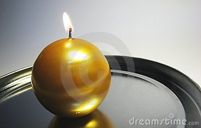 Golden candle 11