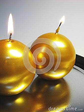 Golden candles 3