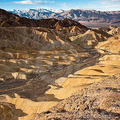 Golden Canyon at Sunrise in Death Valley