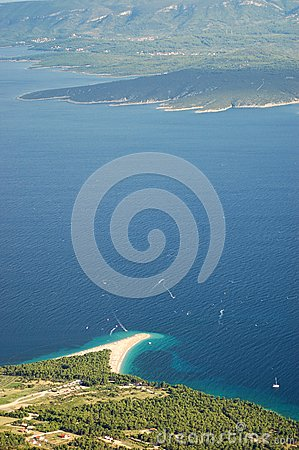 Spectacular view on Golden Cape -Brac island, Croa