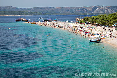 Picturesque view on Golden Cape on Brac island, Cr