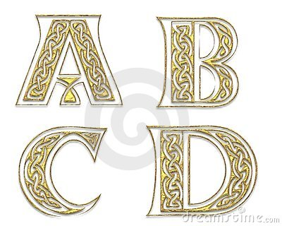 Golden Capital Letters 1
