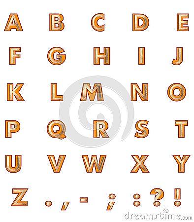 Golden Capital Letters