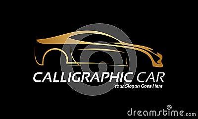 Golden car logo