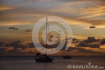 Golden Caribbean Sunset Cruise