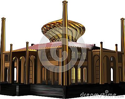 Golden castle graphic