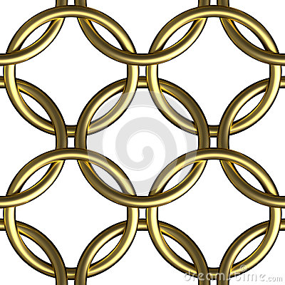 Free Golden Chain Mail Ring Mesh Seamless Pattern Stock Images - 42900994
