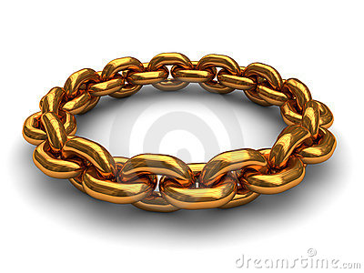 Golden Chain Ring Royalty Free Stock Photo - Image: 13132805