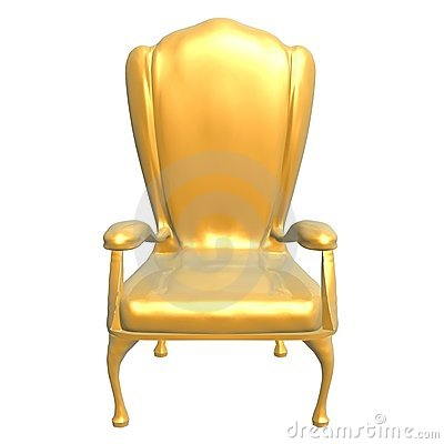 Golden chair of king