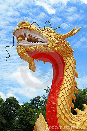 Golden china dragon