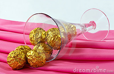 chocolates and glass