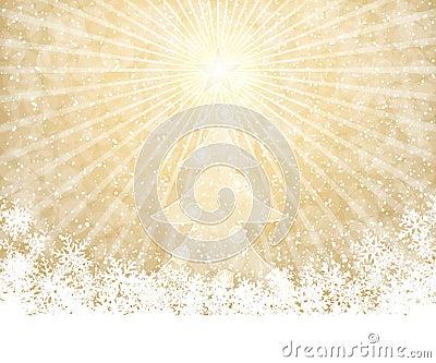 Golden Christmas background