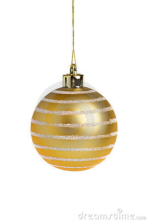 Free Golden Christmas Ball Royalty Free Stock Photography - 1407647