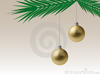 Golden Christmas Baubles (Vector)