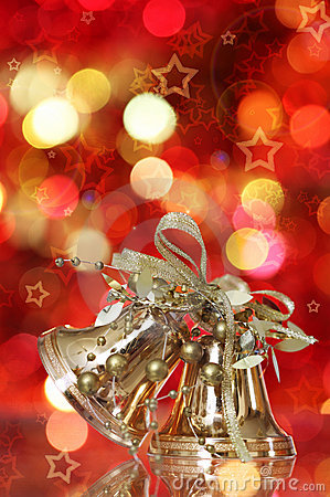 Golden Christmas bell tree decorations