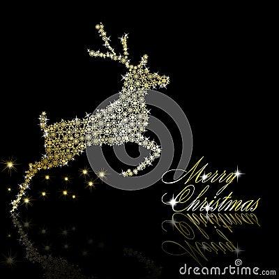 Golden Christmas  deer