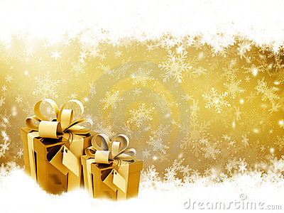 Golden Christmas gifts