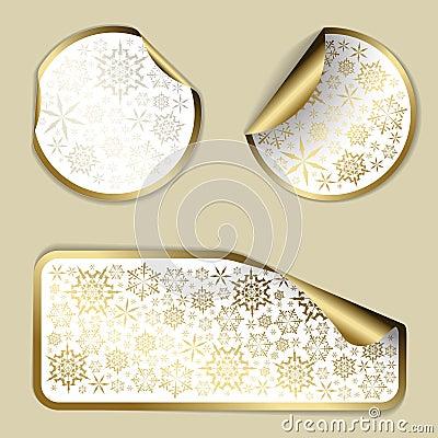 Golden Christmas  labels