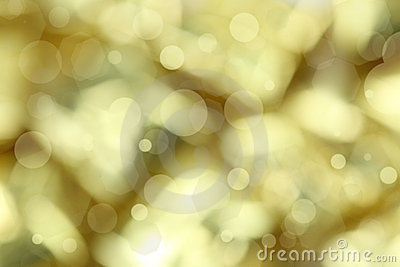 Golden christmas light background
